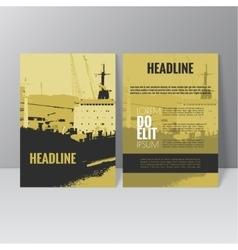 Brochure template design l vector