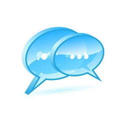chat box vector image