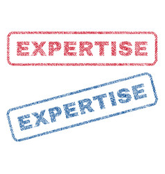 expertise textile stamps vector image