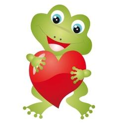 frog heart vector image vector image