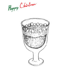 Hand drawn sketch of julmust or soft drink made vector