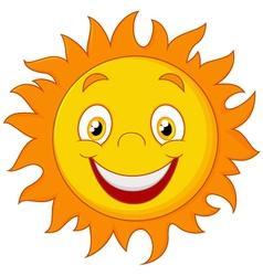 Happy cartoon sun vector image vector image
