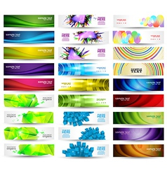 Huge Banner Set vector image