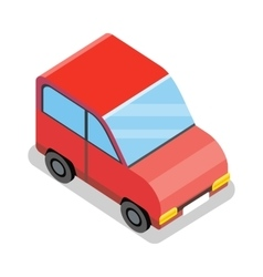 Isometric red car icon vector