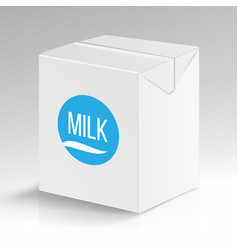 milk carton package blank white carton vector image vector image