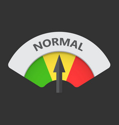 Normal level risk gauge icon normal fuel on black vector