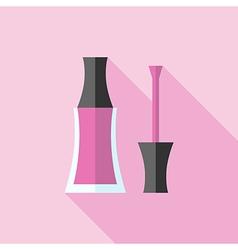 Pink nail polish vector image