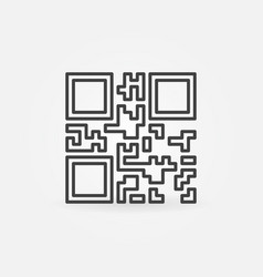 Qr code icon or symbol in line style vector