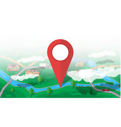 Suburban nature map gps and navigation vector