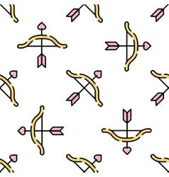 Wedding flat pattern vector image vector image
