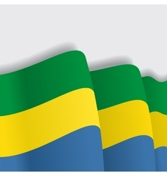Gabon waving flag vector