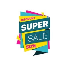 Special offer super sale tag discount banner vector
