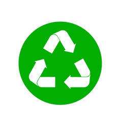 Recycle sign on white vector