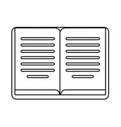 Book learning library outline vector