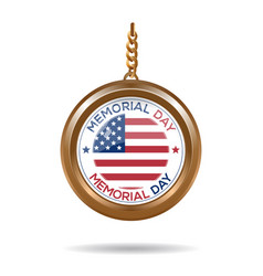 Round medallion for memorial day vector