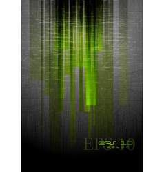 Abstract grunge hi-tech design vector image