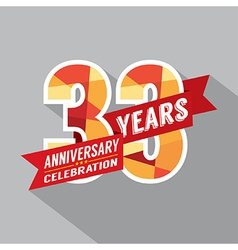 33rd years anniversary celebration design vector