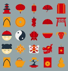 Chinese new year flat design object vector