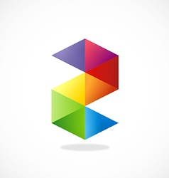Colorful shape s business logo vector