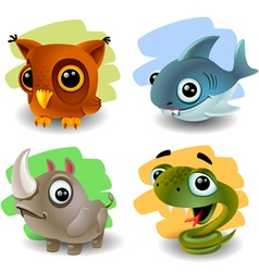 Funny animals-set 2 vector