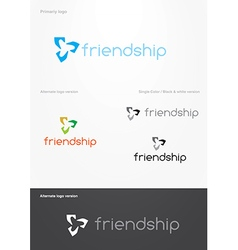 Friendship logo vector