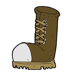 Comic cartoon old work boot vector