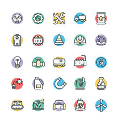 Industrial cool icons 1 vector