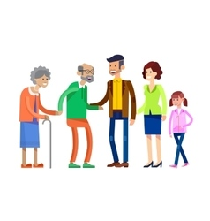 Detailed character people family vector