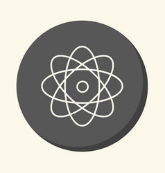 Atom and rotating electrons a circular vector