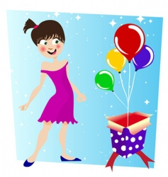 birthday surprise vector image vector image