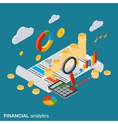 Business report financial diagram analytics vector image