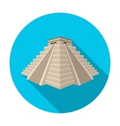Chichen itza icon in flat style isolated on white vector