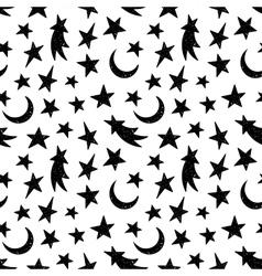 Cosmic seamless grunge pattern vector