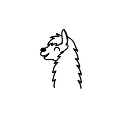 Cute character lama vector