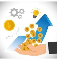 Financial growth design vector