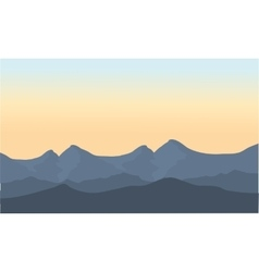 Gray mountain scenery vector image vector image