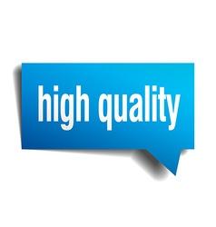 High quality blue 3d realistic paper speech bubble vector