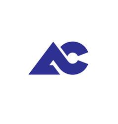 Letter ac logo vector
