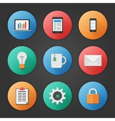 Modern Business Icon Set vector image