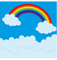 rainbow over the sky at daytime vector image