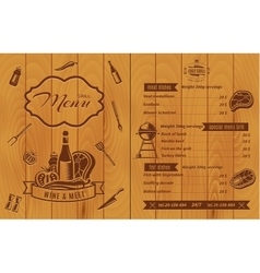 Retro bbq menu vector