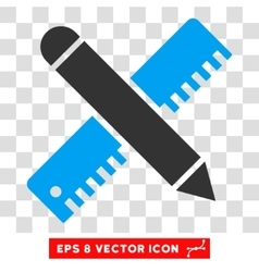 Ruler And Pencil Design Tools Eps Icon vector image