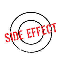 Side effect rubber stamp vector