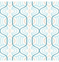 Simple moroccan pattern in blue and white vector