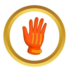 Snowboard sport glove icon vector
