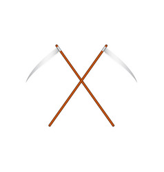 Two crossed scythes vector