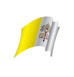 Vatican flag vector