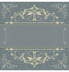 Vintage luxury card vector image vector image