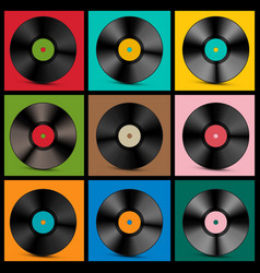 Vintage vinyl records vector