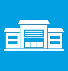 Warehouse icon white vector